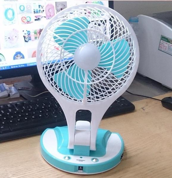 [Lấy mã giảm thêm 30%]Quạt sạc tích điện Kiêm đèn sáng 2inl1 Mini Fan
