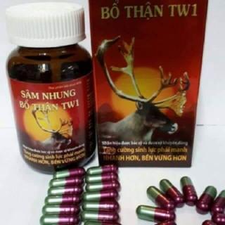 Tăng cường sinh lý, hết đau lưng, mỏi gối, tiểu tiện nhiều lần - Sâm nhung bổ thận TW1 - Lọ 30 viên thumbnail