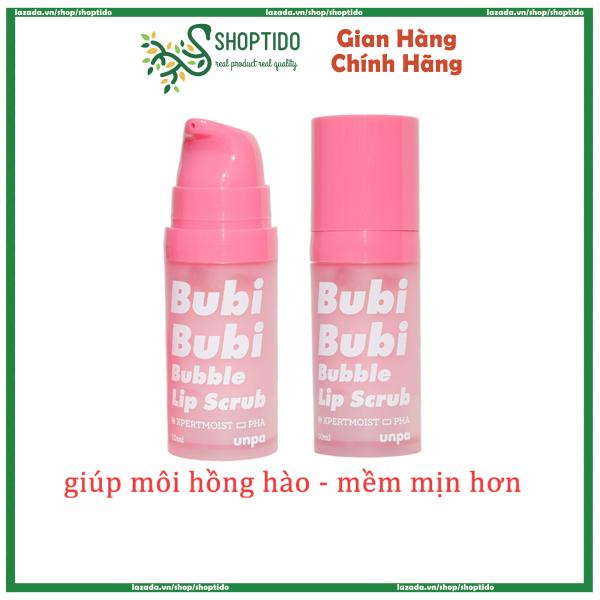 Tẩy tế bào chết Bubi Bubi Lip dạng sủi bọt từ Hàn quốc cao cấp