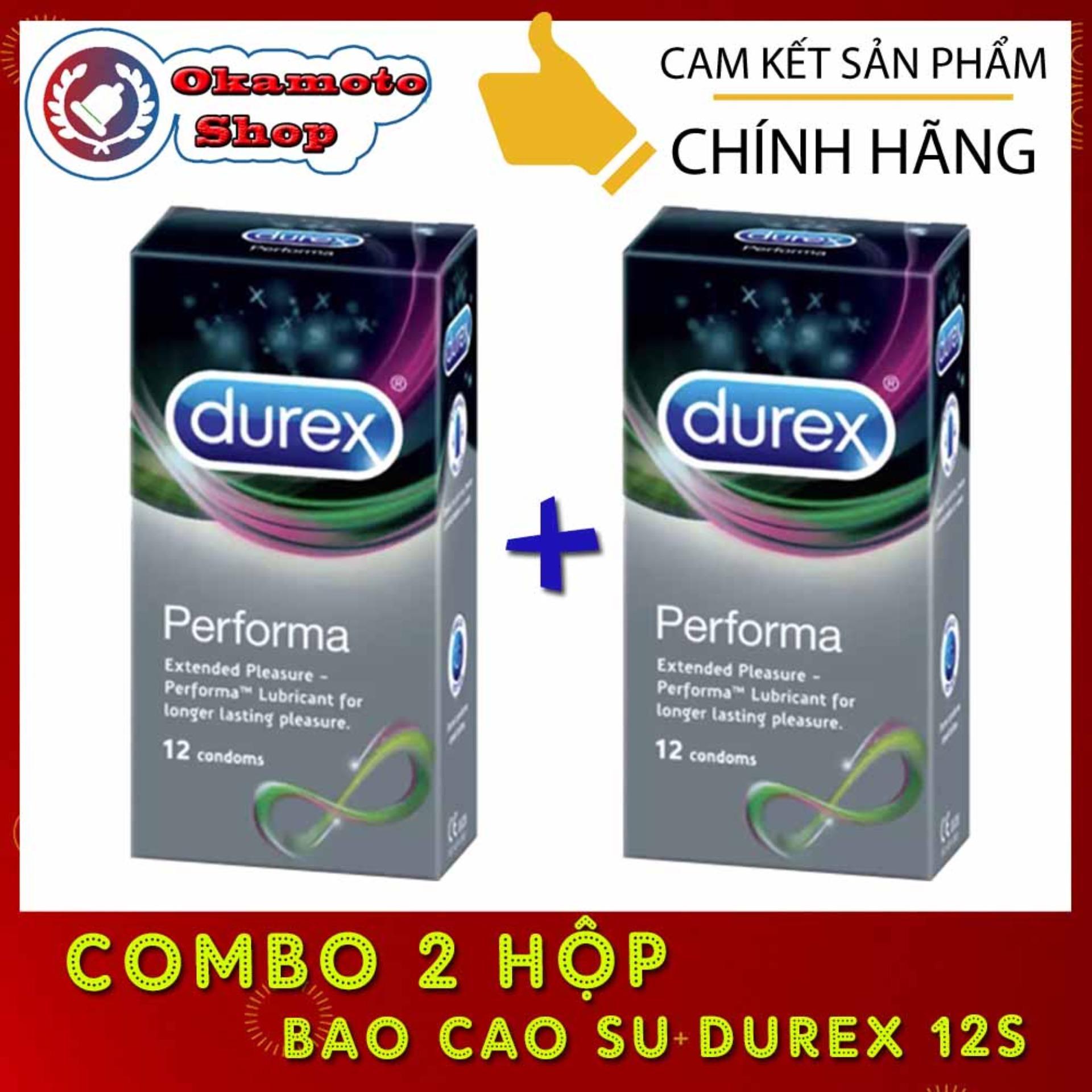 [Combo 2 hộp] Bao cao su Durex Performa kéo dài thời gian quan hệ - [Che tên sản phẩm]