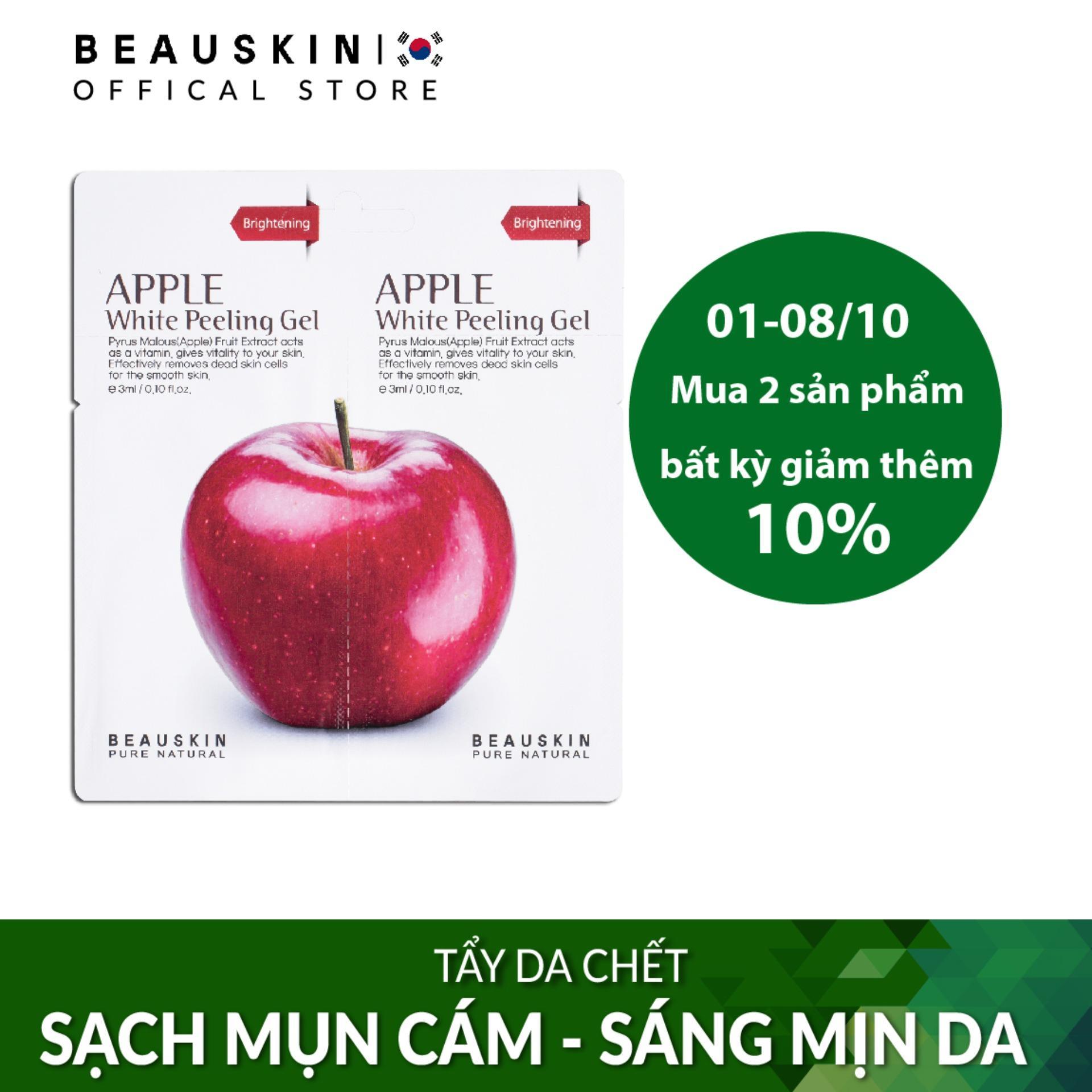 Tẩy da chết SÁNG DA SẠCH MỤN Beauskin Apple White Peeling Mini Size tốt nhất