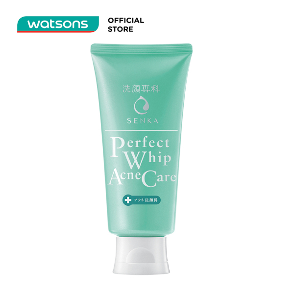 Sữa Rửa Mặt Senka Perfect Whip Acnes Care Dành Cho Da Mụn 100g