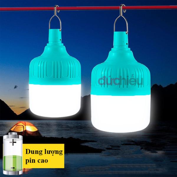 [ Hàng chất lượng ] Bóng đèn LED sạc tích điện 50w, bóng đèn tích điện, đèn sạc, bóng đèn thông minh - Đức Hiếu Shop