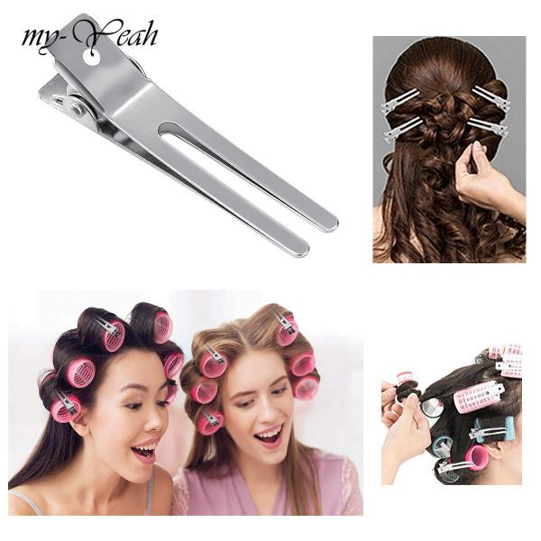 myyeah 5/10/50 chiếc kẹp tóc bằng thép để tạo kiểu tóc xoăn với bộ vuốt đôi cho tiệm hoặc phụ kiện tóc tại nhà giá rẻ