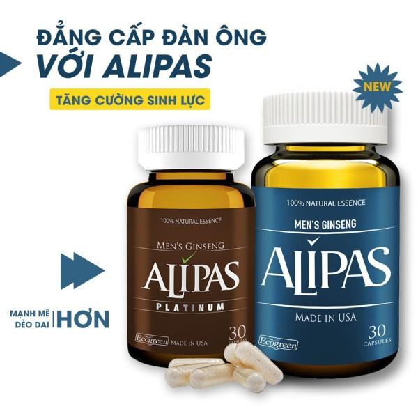 [CHÍNH HÃNG] Sâm Alipas Platinum - Viên uống tăng cường sinh lý nam. Sung Mãn Trường Tồn. -1 Hộp