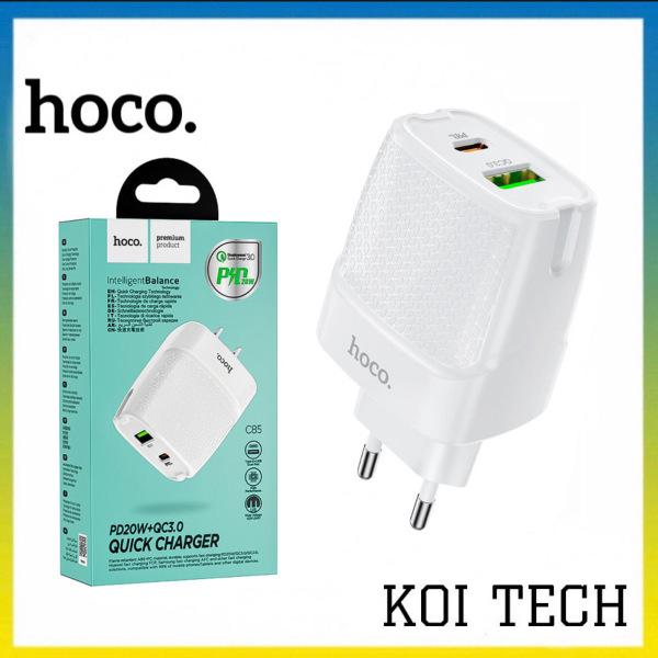 Cốc sạc nhanh PD 20w QC 3.0 Hoco NX85 - củ sạc cao cấp chống cháy nổ cho iphone samsung,...vv