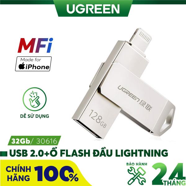 Bảng giá USB 2.0 + Ổ Flash đầu lightning cho iPhone/iPad 16Gb UGREEN US200 30615- Hãng phân phối chính thức Phong Vũ