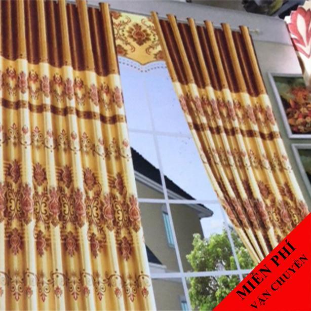 Rèm Cửa Sổ Vảir Bóng  Cản Sáng Màu Vàng đông Giá Hot Siêu Giảm tại Lazada