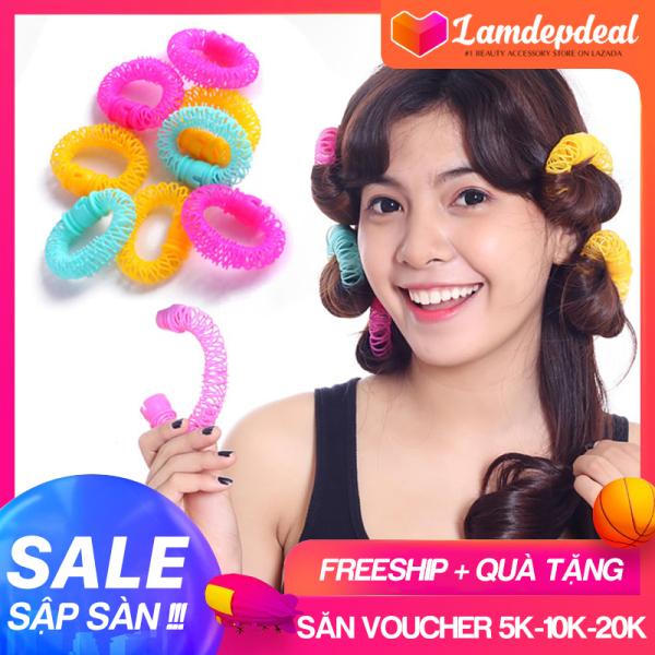 Lamdepdeal - Lô uốn tóc lò xo không dùng nhiệt - Lô cuốn tóc giá rẻ, dễ sử dụng - Dụng cụ làm tóc. nhập khẩu