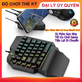 [ KHUYẾN MÃI ] Bàn phím giả cơ FREE WOLF K15 chơi game Pubg Mobile Rules of Survival Free Fire trên điện thoại máy tính bảng Laptop và PC - BẢO HÀNH 12 THÁNG thumbnail