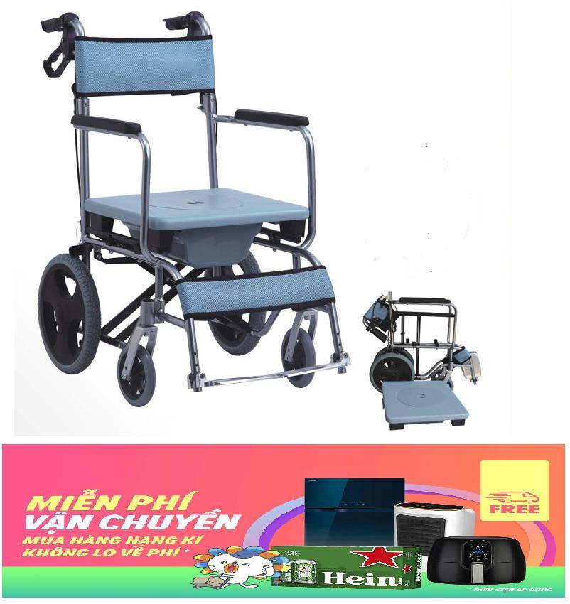 Xe lăn kết hợp ghế tắm và bô vệ sinh xếp gọn OneX