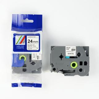 Nhãn in CPT-251 tương thích máy in nhãn Brother P-Touch - Nhãn in chữ đen nền trắng khổ 24mm thumbnail