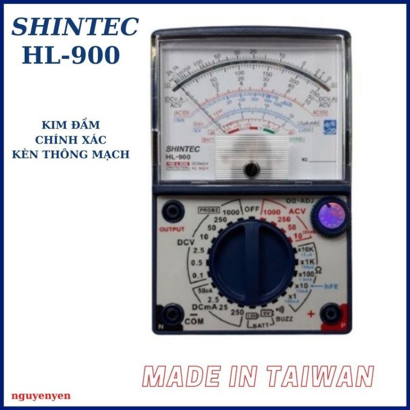 Đồng hồ đo vạn năng đa năng VOM Shintec HL-900 Kim đầm + Độ chính xác cao + Kèn thông mạch + Kèm bộ que đo + Made in Taiwan
