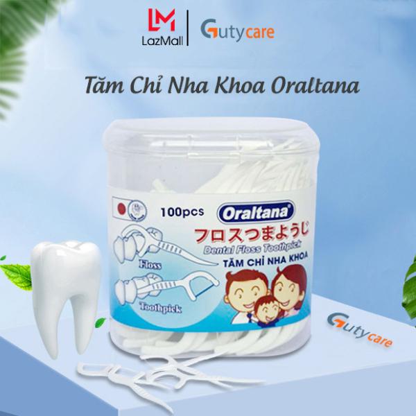 Tăm nha khoa, chỉ nha khoa, tăm xỉa răng y tế Oraltana - Lọ 100 cái - 2 trong 1 đạt tiêu chuẩn xuất khẩu Nhật bản - Guty Care