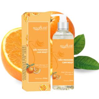Dầu massage body cam ngọt Tinh Dầu 100 bôi trơn, dưỡng da, mùi thơm thư giãn dung tích 200ml thumbnail