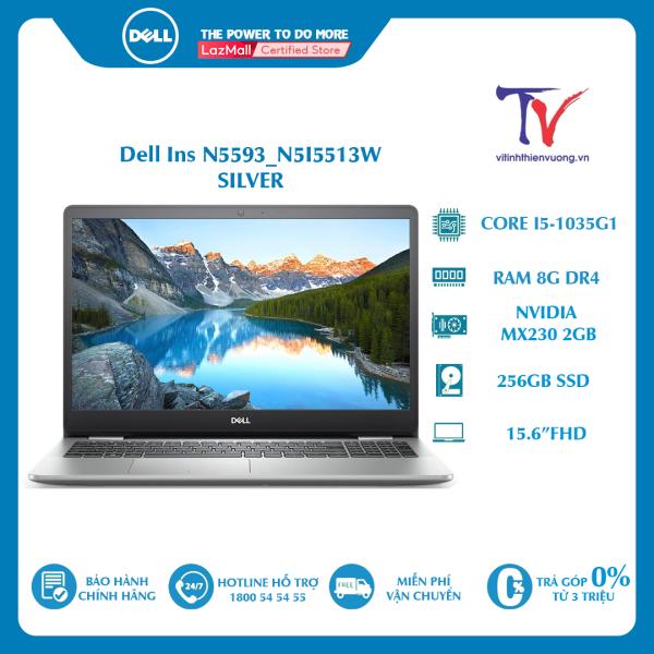 Bảng giá Laptop Dell Inspiron 5593 (N5I5513W) (i5 1035G1/8GB/256GBSSD/MX230 2G/15.6 inch FHD/Win10/Bạc) Phong Vũ