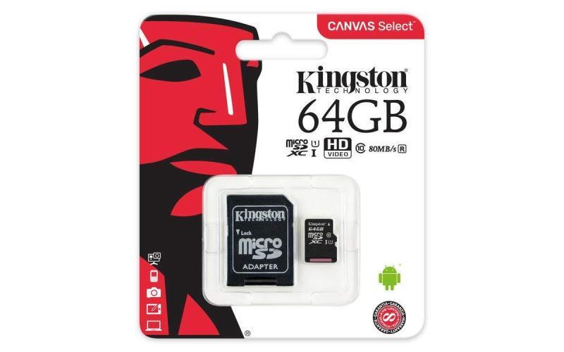 Thẻ nhớ kingston micro SD 64GB kèm Adapter