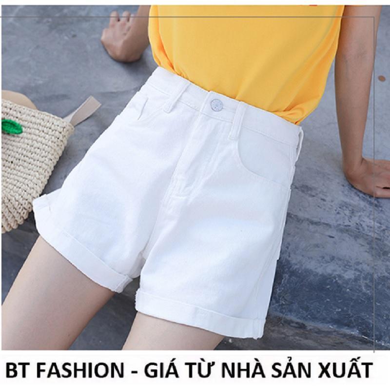 Quần Đùi Sọt Nữ Kaki Coton Co Dãn Thời Trang Hàn Quốc Mới - BT Fashion (SO2E-LẬT LAI)