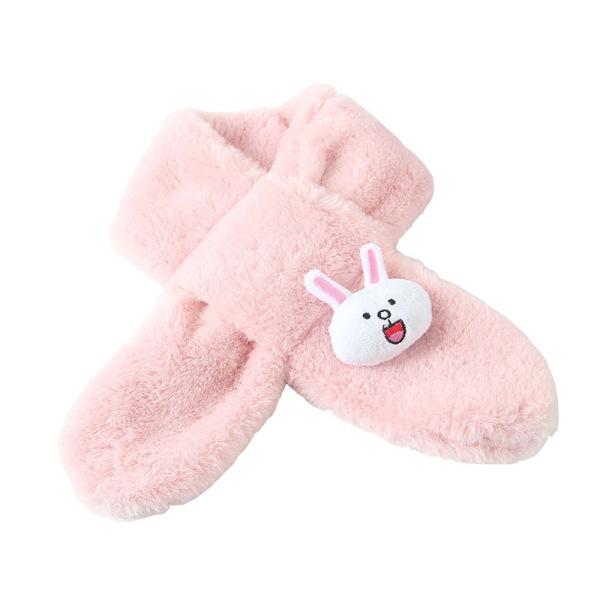 Giá bán Khăn Quàng Cổ Lông Thỏ Đính Thỏ Hoạt Hình Cực Xinh Cho Bé 1-12 Tuổi