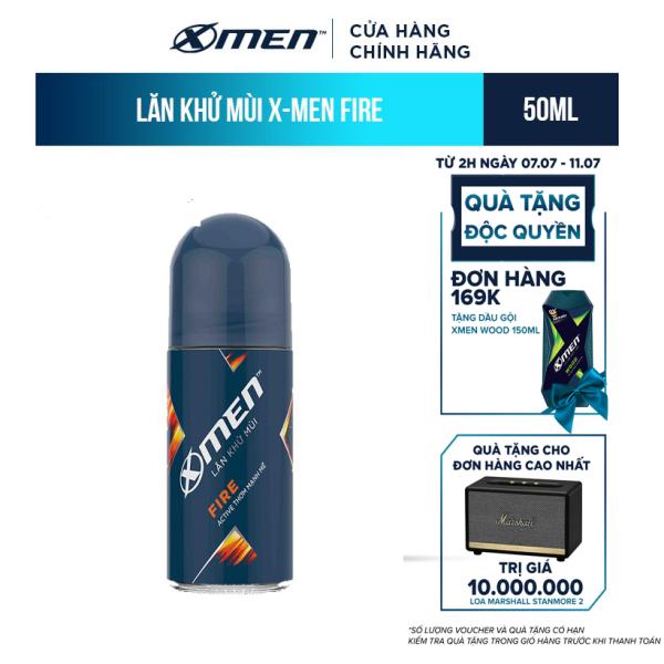 Lăn khử mùi X-men hương nước hoa Fire 50ml nhập khẩu