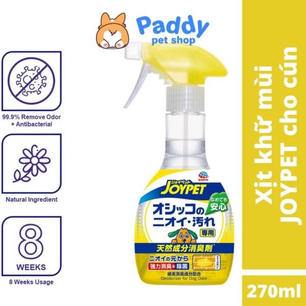 Xịt diệt khuẩn & khử mùi hôi của chó Joypet Dog 270ml