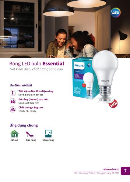 Đèn tiết kiệm điện Philips ESS LED BULD 5w/7w/9w/11w/13w