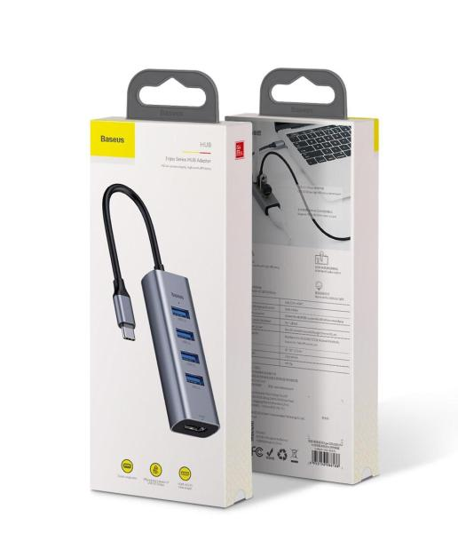 Bảng giá Cáp chuyển Type C đa năng sang 4 USB 3.0 và đầu HDMI chuẩn 4K dành cho Macbook thương hiệu Baseus - Phân phối bởi Baseus Global Phong Vũ