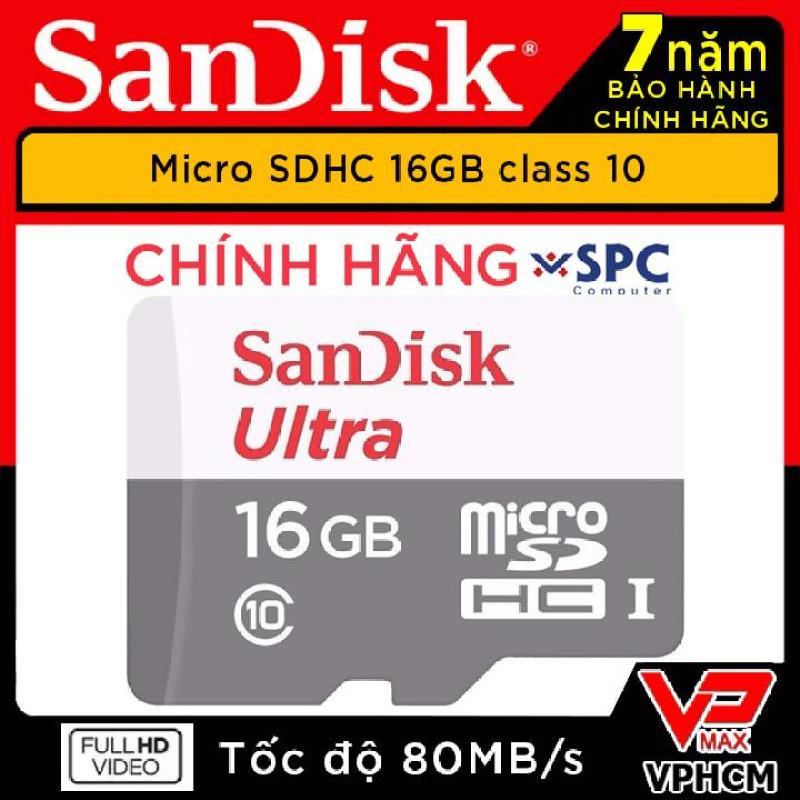 Thẻ nhớ Micro SD 16Gb Sandisk  Ultra Speed siêu bền cho camera hành trình và định vị