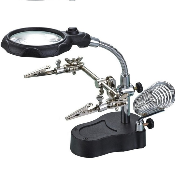Kính lúp kính lúp có giá đỡ soi mạch điện