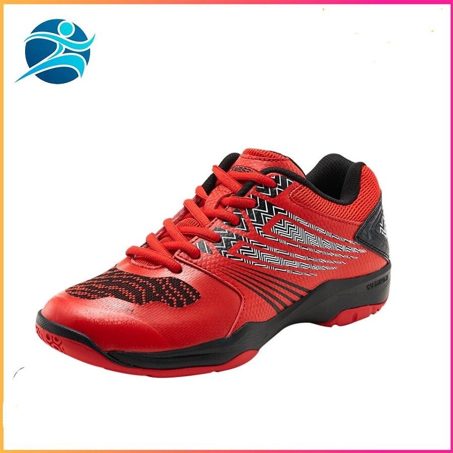 giày cầu lông nam nữ Kawasaki K163 hai màu xanh-đỏ giày chống lật cổ chân-giày bóng chuyền cao cấp-giày thể thao