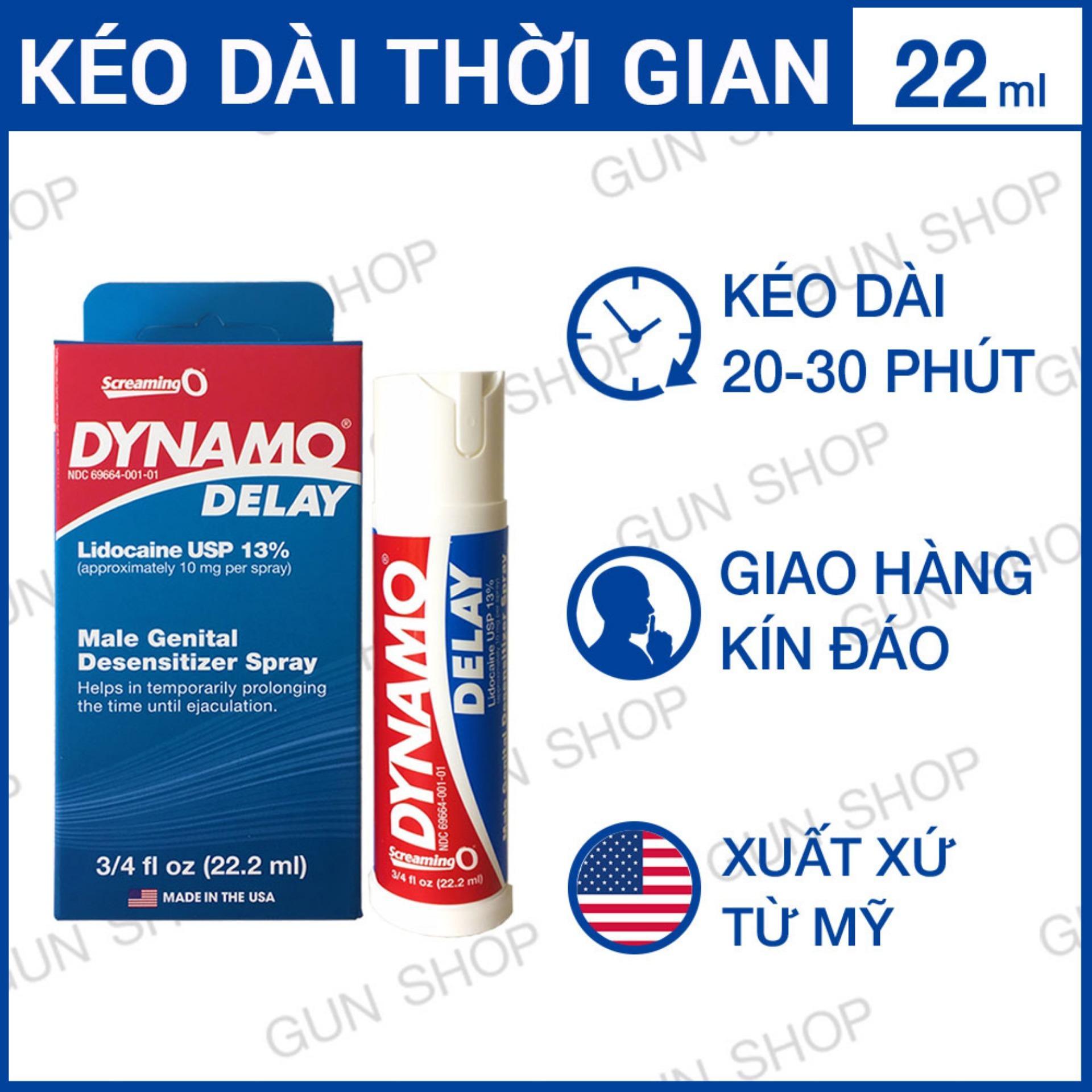 Tinh Chất Chai Xịt Dynamo Delay Mỹ - Kéo dài thời gian không mùi màu - 22ml  [ Gunshop-TC04 ] nhập khẩu