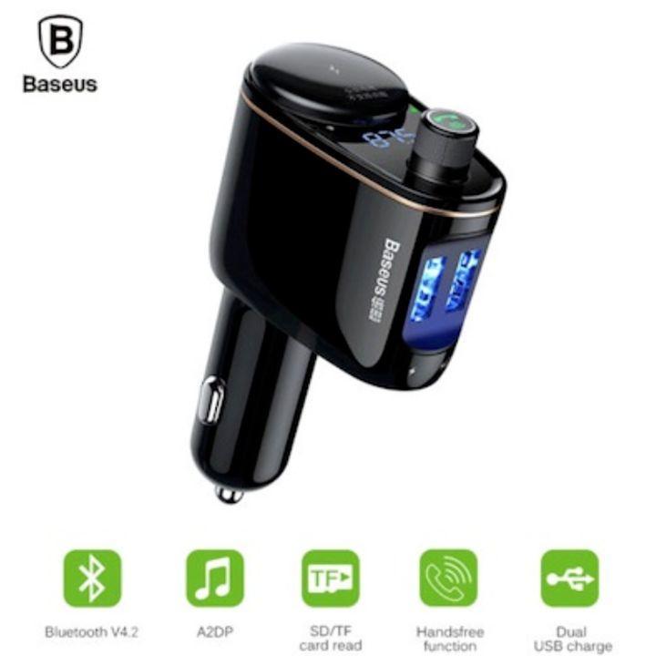 Tẩu nghe nhạc ô tô, xe hơi nhãn hiệu Baseus CCALL-RH01 Bluetooth V4.2 ( Màu đen)