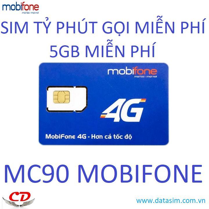 Giá SIM 4G  Siêu Thần Tài Tỷ Phút Gọi Mobifone MC90-0đ-QC