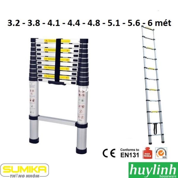 Thang nhôm rút đơn Sumika SK320 SK380 SK410 SK440 SK480 SK510 SK560 SK600 (3.2 - 3.8 -  4.1 - 4.4 - 4.8 - 5.1 - 5.6 - 6)