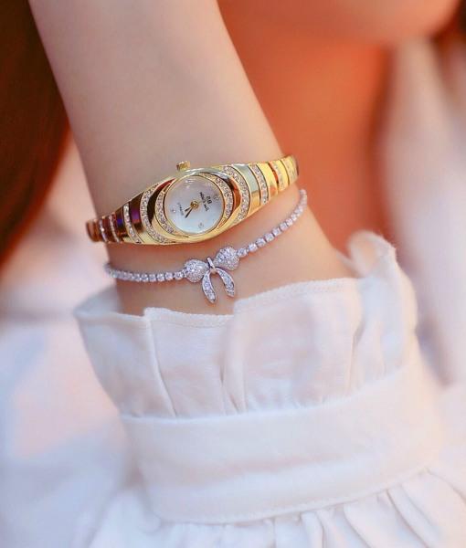 [HCM]Đồng hồ nữ BS mini thời trang cao cấp chống nước tốt bảo hành 12 tháng