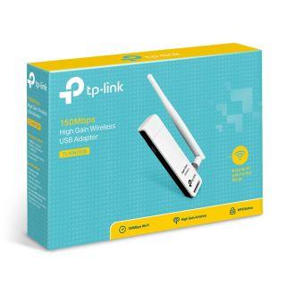 TL-WN722N TP-Link Bộ chuyển đổi USB Wi-Fi Độ lợi cao Tốc độ 150Mbps