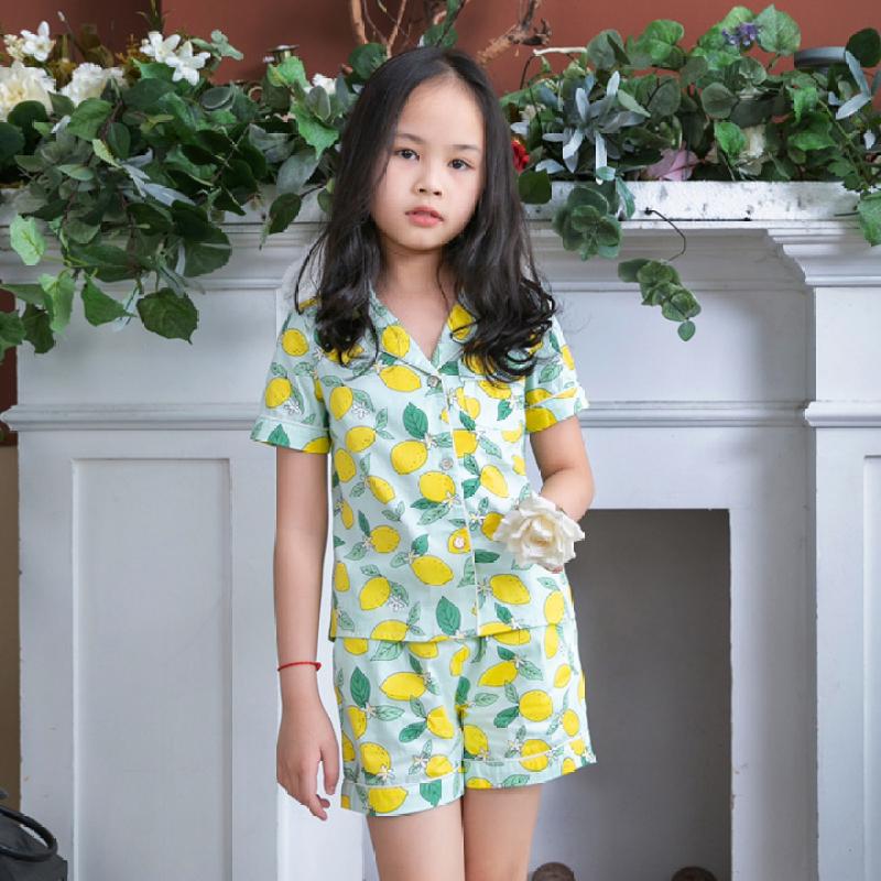 Nơi bán Đồ bộ mặc nhà pijama bé gái màu xanh lá cây nhạt