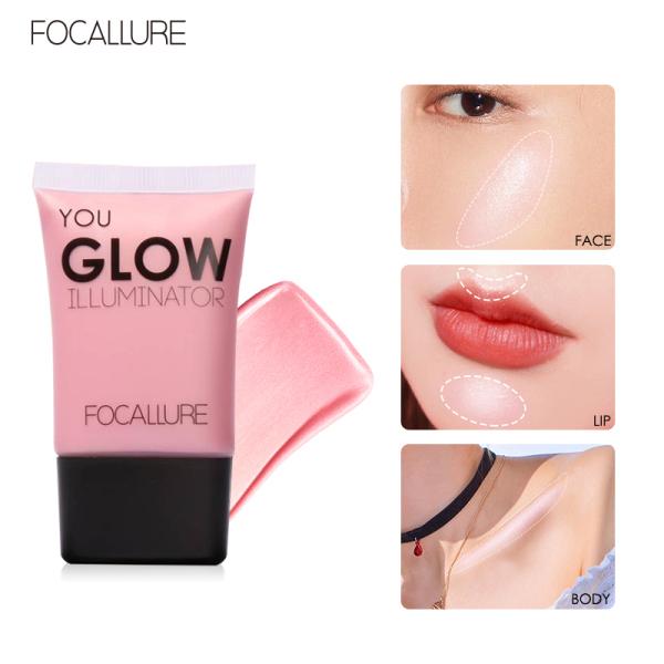 Kem bắt sáng FOCALLURE dạng lỏng giúp nổi bật làn da với 4 tông màu tùy chọn trọng lượng 34G - INTL