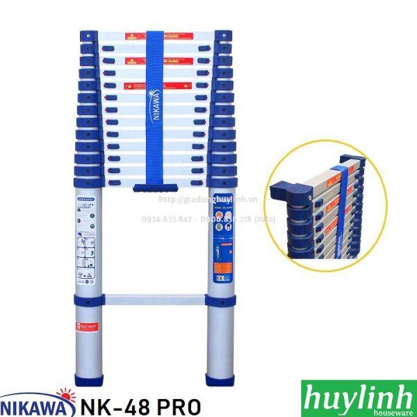 Thang nhôm rút đơn Nikawa NK-48 PRO - 4.8 mét - New 2021