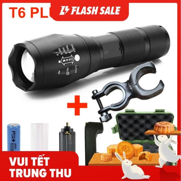 Bộ Đèn pin Xe Đạp Chuyên Dụng AMY XML - T6 Plus siêu sáng Tặng Bộ sạc và pin sạc, Hộp Nhựa Chống Sốc và KẸP ĐÈN XE ĐẠP - BH 1 ĐỔI 1