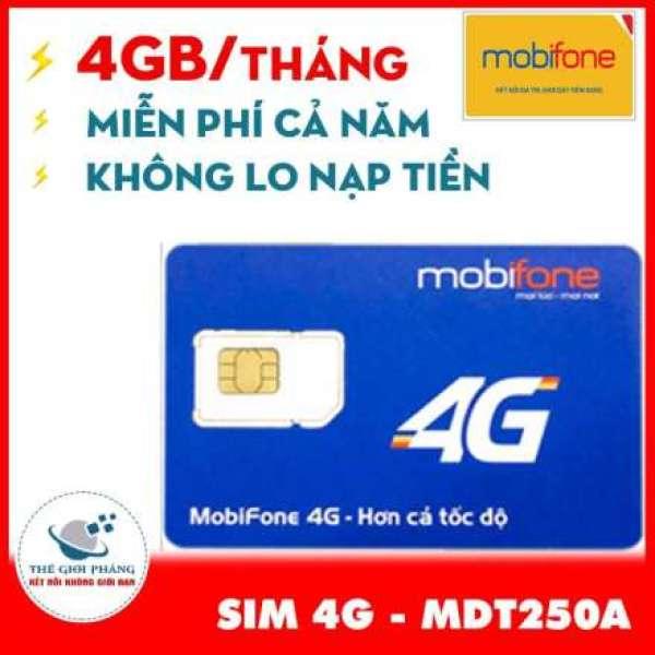 Sim 4G Mobifone trọn gói 1 năm không nạp tiền MDT250A.