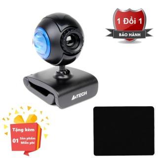 ( Tặng kèm Bàn di chuột máy tính chất lượng cao ) Webcam tích hợp Micro cho máy tính, PC, Laptop A4tech 752F - Webcam học online tại nhà A4tech PK-752F - Webcam online kèm Micro 752F thumbnail