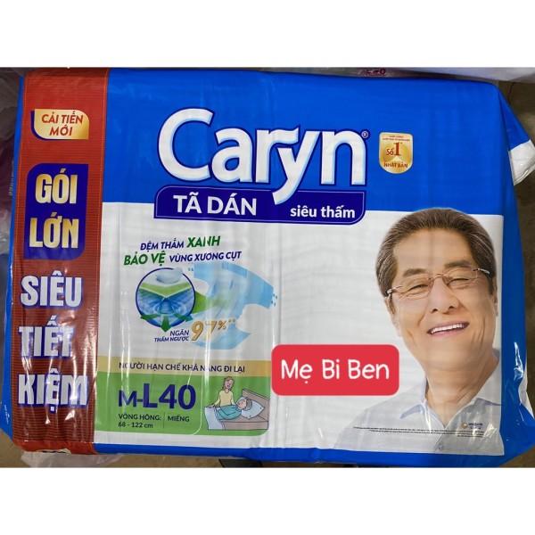 [MẪU MỚI] Tã Bỉm Dán Người lớn siêu thấm Caryn Size M40, ML40 miếng - SIZE M40 giá rẻ