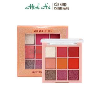 Bảng phấn mắt nhũ 9 ô Sivanna Colors Velvet Touch HF4030 thumbnail