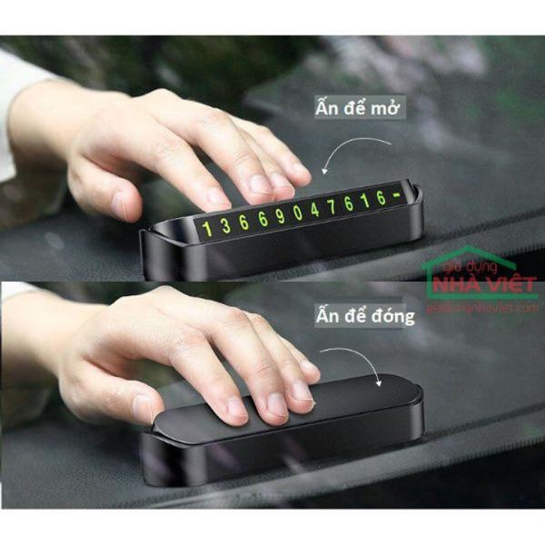 Bảng ghi số điện thoại, thẻ đỗ xe hiển thị số điện thoại gắn Taplo xe hơi, xe ô tô - Cực kỳ tiện lợi