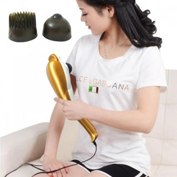Máy massage cầm tay cá heo 3 đầu Puli PL-606B - Điện tử cao cấp