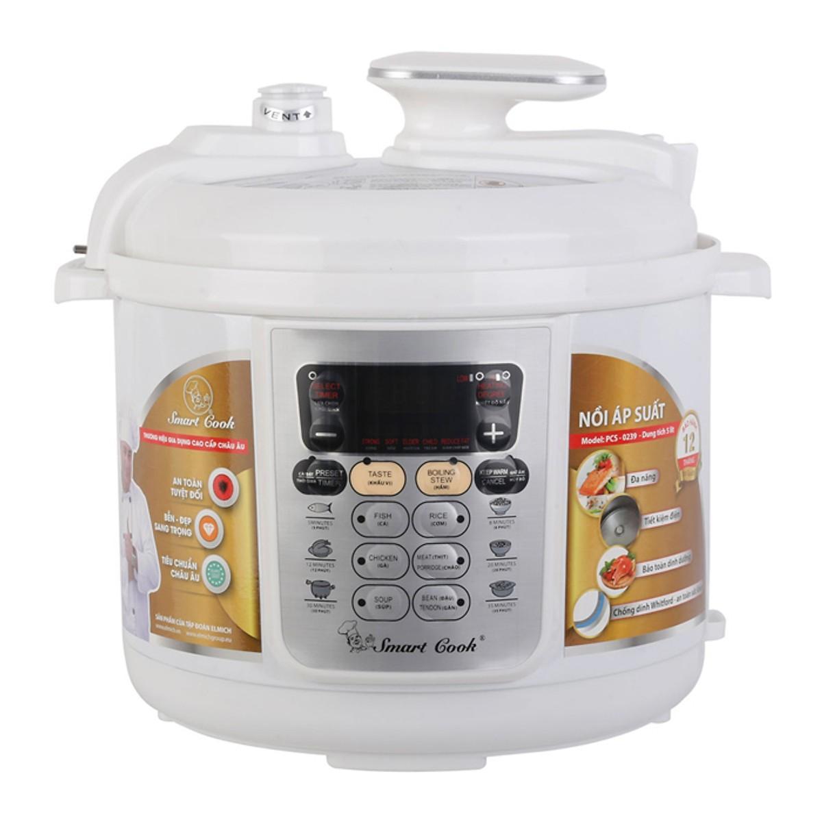 Nồi áp suất Smartcook Elmich PCS-0239 5L