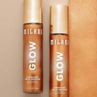Kem Bắt Sáng Milani Glow Luminizing Liquid Bronzer Illuminator Makeup for Face & Body, Liquid Highlighter, Makeup Bronzer 50ml thumbnail