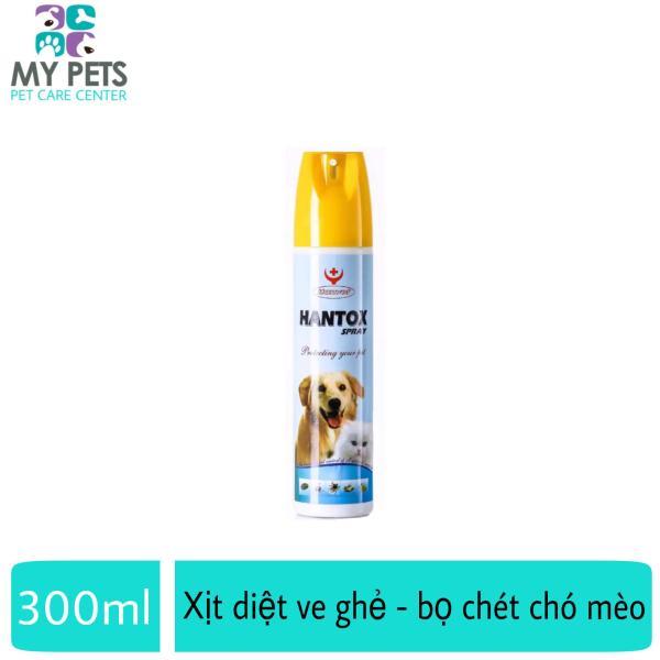 Thuốc xịt diệt ve ghẻ, bọ chét cho chó mèo -  Hantox Spray 300ml