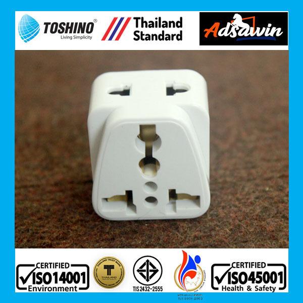 TOSHINO PS18-A2 Made in Thailand -Phích cắm chuyển đổi 3 chấu - chia 2 ổ  2000W giá rẻ